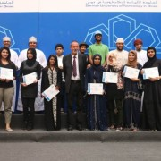 GUtech Student Awards - Theatre Group along with the Rector of GUtech [81388]h