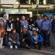 Group photo in front of RWTH Aachen 'Super Cccc Building' (2)