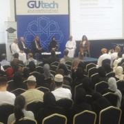 group photo - panel discussion at GUtech - 1