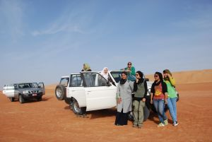Group Picture In Wahiba Sands