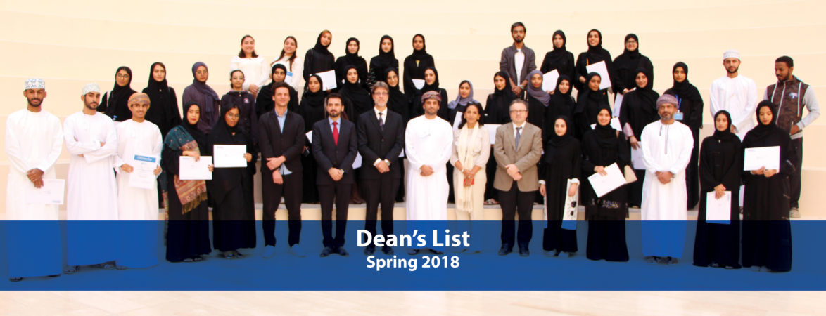 Congratulations to the students on the Dean's List