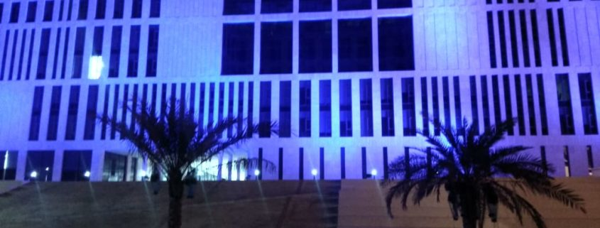 Campus in Blue to Honour Frontline Professionals during the Covid-19 Pandemic